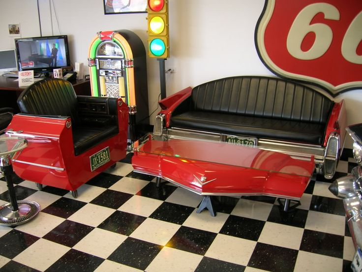 Hot Rod Man Cave Ideas : Vehicular furnishings and automotive decor photo gallery