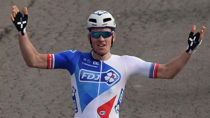 Le Français Arnaud Démare (FDJ) ETOILE DE BESSEGES - Le Français Arnaud Démare (FDJ) a remporté samedi la quatrième étape de l'Etoile de Bessèges cycliste, courue sur 152,9 km entre Chusclan (Gard) et Laudun-l'Ardoise (Gard). ICI Arnud Démare a devancé...