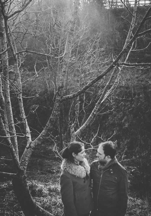 A pre wedding shoot! Anna is wearing the sheepskin collar in Paco, by Blanche in the Brambles. Photography by Noel Deasington
