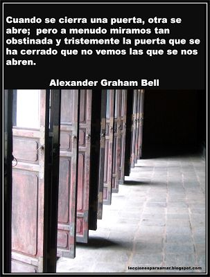 Frase de Alexander Graham Bell