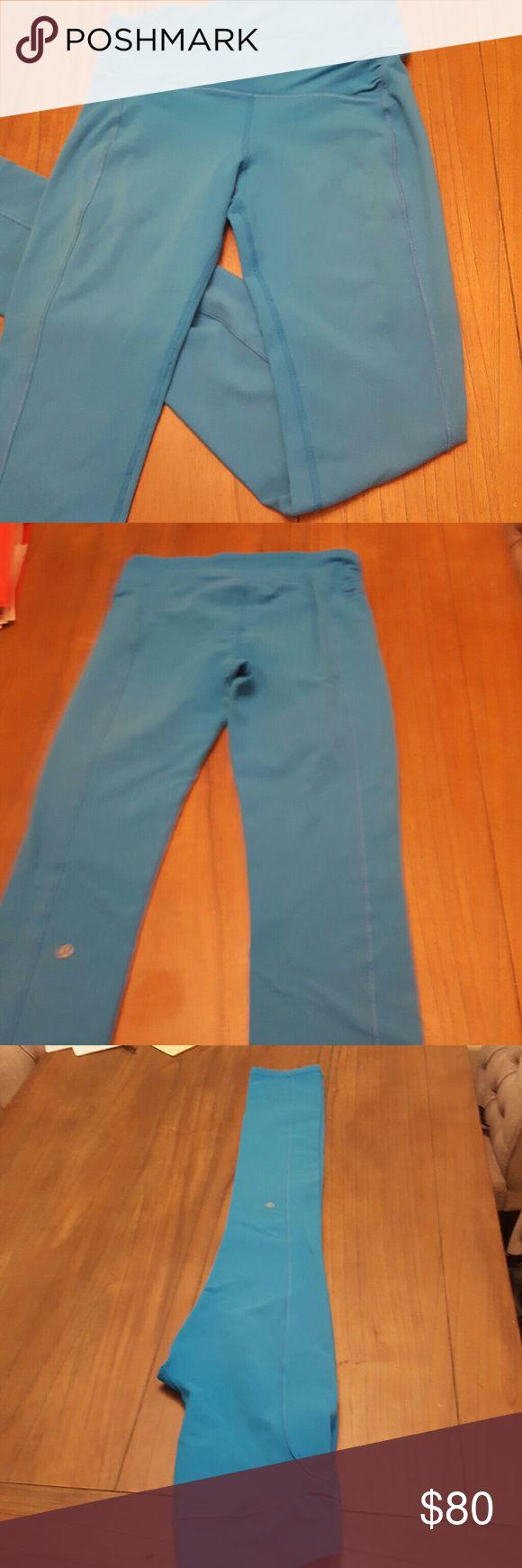 Lululemin workout leggings Bright blue Lululemon leggings lululemon athletica Pants Leggings