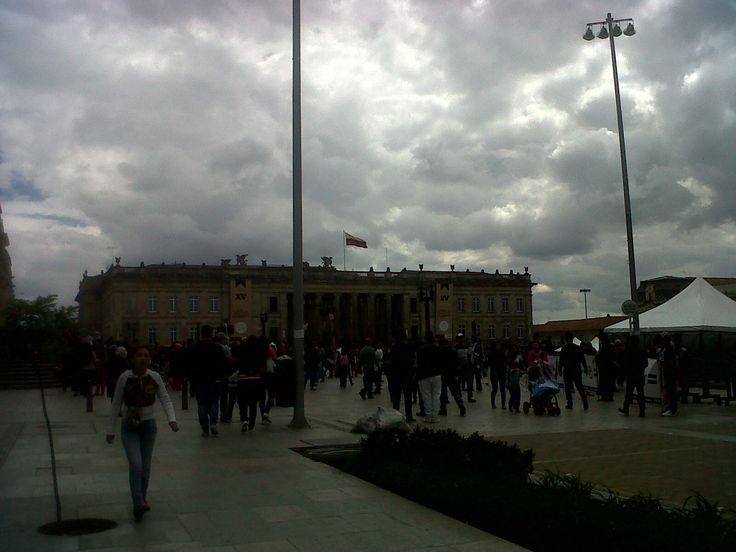 Capitolio Nacional, Plaza de Bolívar, Bogotá-Colombia.