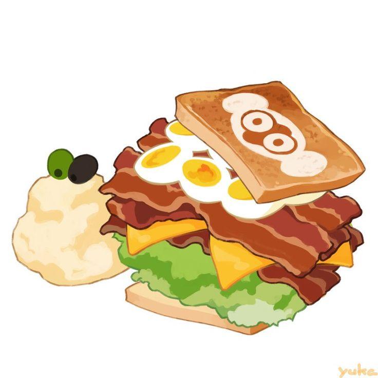 カフェライブラ 本日の気まぐれメニュー ベーコンレタスエッグサンドイッチ マッシュポテト付き