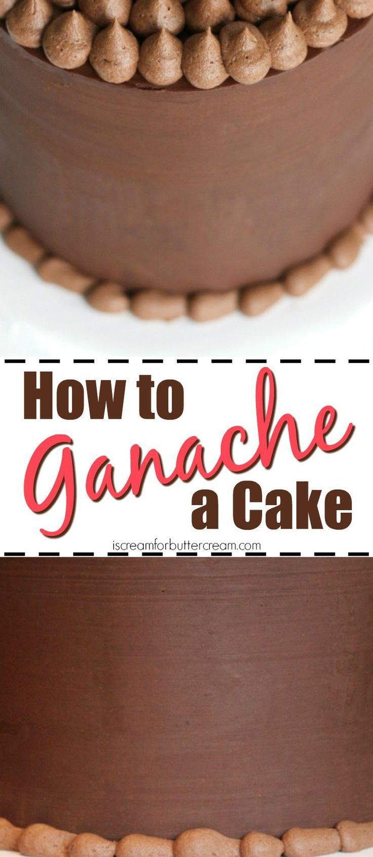 How to Ganache a Cake Pinterest
