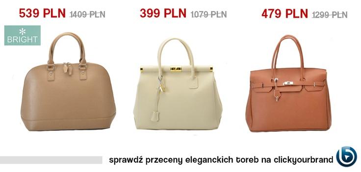 Dzisiaj proponujemy Wam piękne torby w stonowanej kolorystyce. Podobają Wam się?