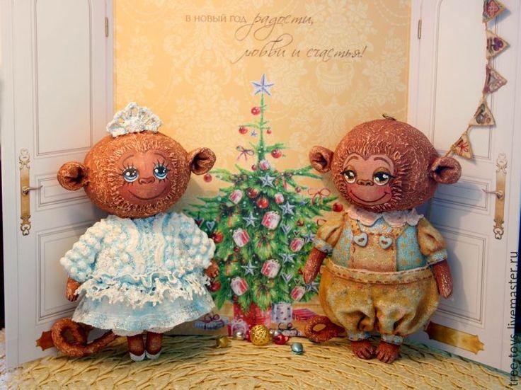 Купить Елочная игрушка Обезьянка - коричневый, обезьяна, символ 2016 года, новогодний подарок