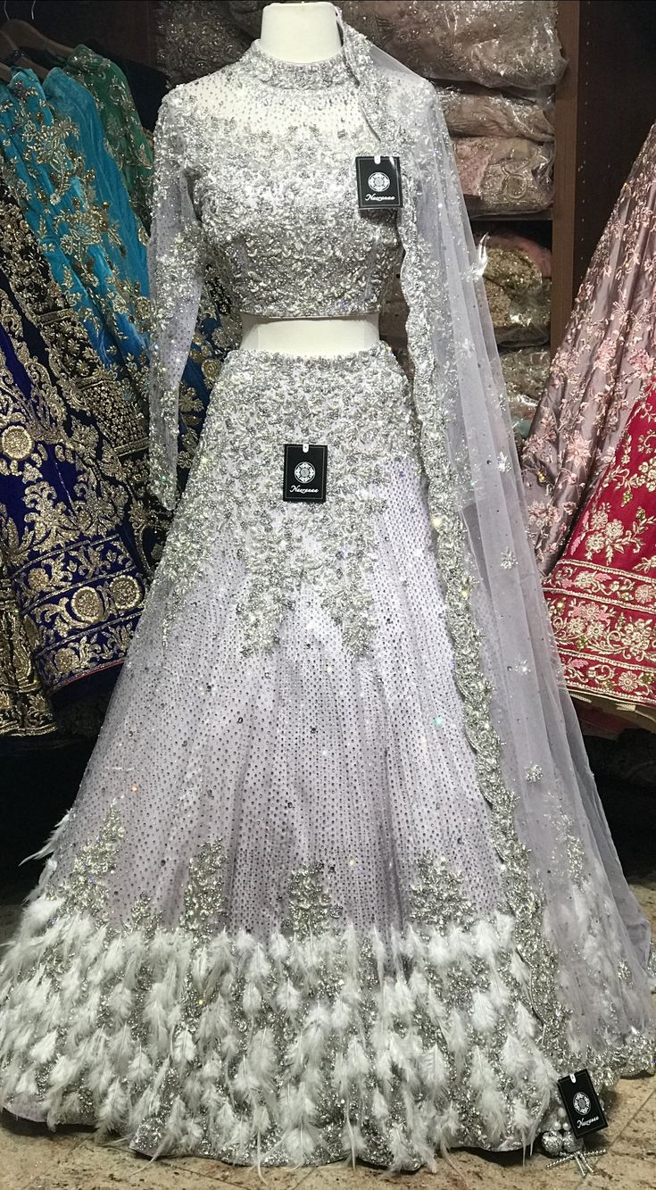 Lilac Feather Lehenga Nazranaa in 2020 Indian bridal