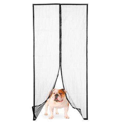 Imperial Home Magic Mesh Magnetic Screen Door with Butterfly Style Opening Size: 1 Magic Mesh Screen Door (Plain)