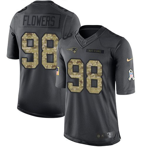 $24.99 Youth Nike New England Patriots #98 Trey Flowers Limited Black 2016 Salute to Service NFL Jersey