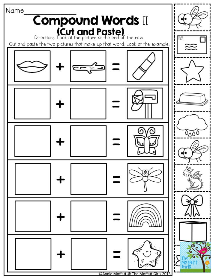 Compound Words- Such a fun activity for Kindergarten!