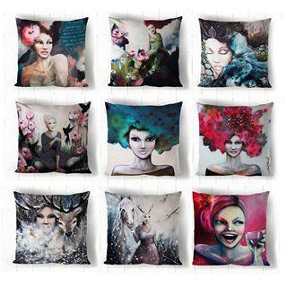 New pillow cases pillowcase art design forthehome interior colorful artwork pillow decor konst kuddfodral  design
