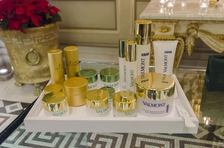 in 2013 Boutique Valmont, a tray with testers is at the disposal of our dear guests who can try newly released Valmont cosmetics