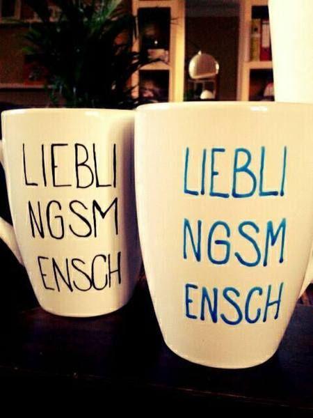Becher & Tassen - Lieblingsmensch.... Kaffeepause - ein Designerstück von Jolie-du-monde bei DaWanda