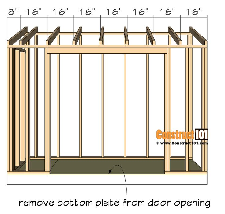 4x10 Lean To Shed Plans Free PDF Material List in 2020