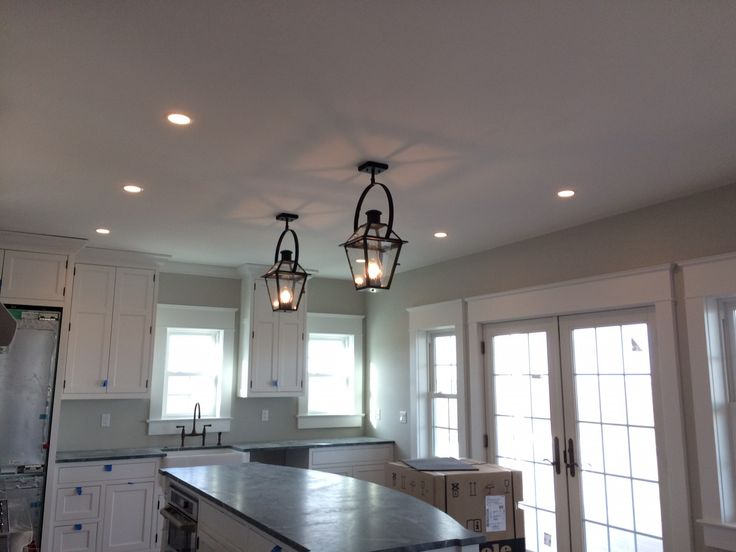 Beautiful Interior Lication Of Two French Quarter Lanterns On Yokes By Bevolo