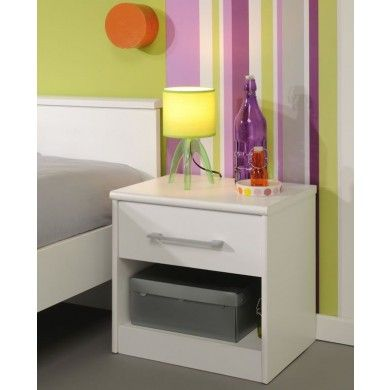 This Bedside Table Is Part Of The Swan Range. It Has A Single Drawer And