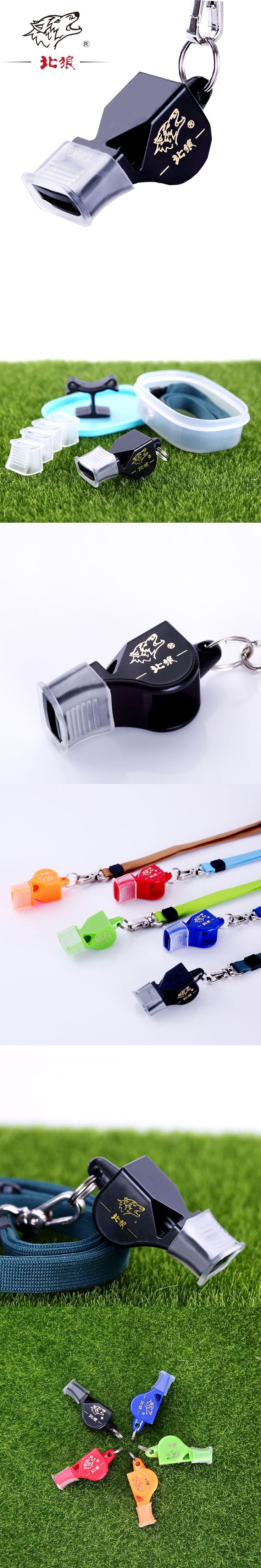 12PCS hot sale football referee whistle survival emergency whistle with lanyard for Hiking Camping boat Outdoor Sports Tools