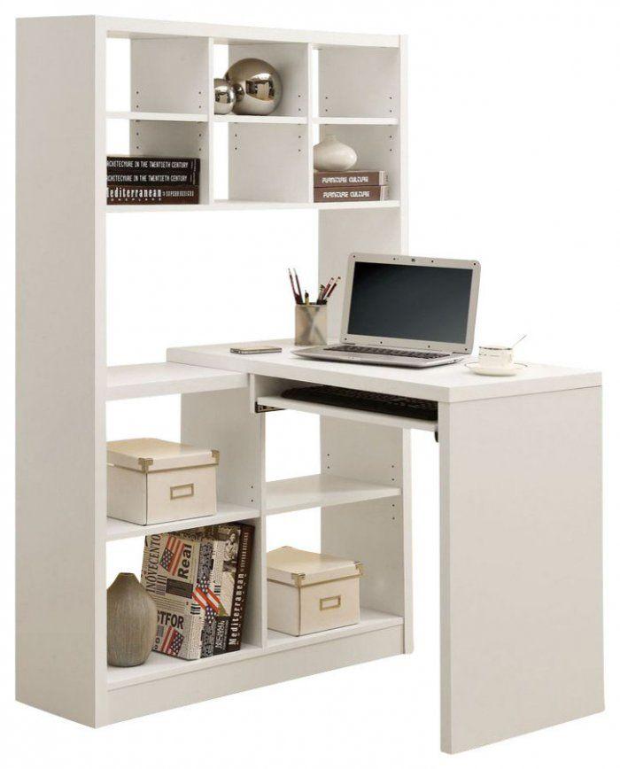 White Corner Desk With Bookcase