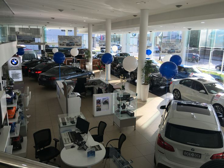 Our huge 3ft balloons are great for any event!  Standard blue and white at BMW car sales.