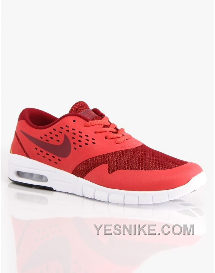 Soldes 2016 Nouvelle Version Nike SB Eric Koston 2 Max Rouge Clay/Team  Rouge/Atomic Mango Homme Chaussures Prix