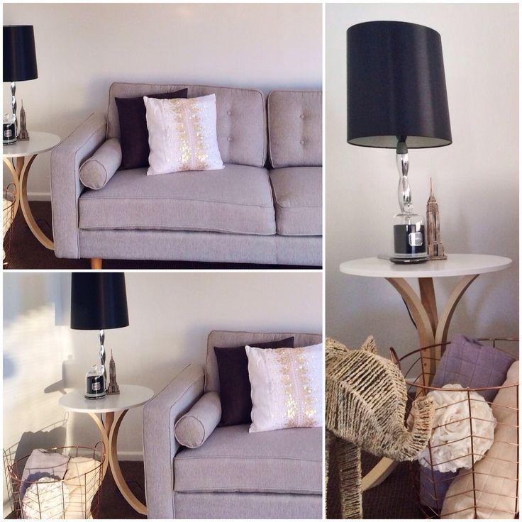 Fun lounge grey white style living cute blanket basket