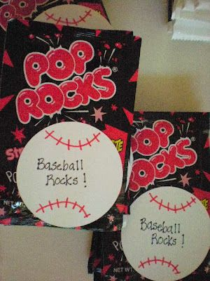 roommom27: Baseball Party Favors - Baseball Rocks!