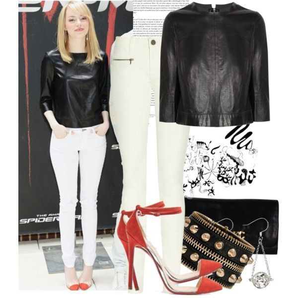 """Emma Stone"" by justadream133 on Polyvore: Celeb Style, Style Boards, Emma Stone, Bangs Emma, Hair Straight, Style Pinboard, Polyvore, Stones, Justadream133"