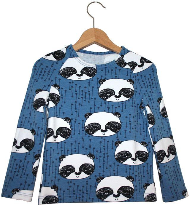 Materialen: * Sweatshirt stof - Panda's van Andrea Lauren (160 cm breed)  50 cm ( Maat 56 t/m 92 )  60 cm ( Maat 98 t/m 12...