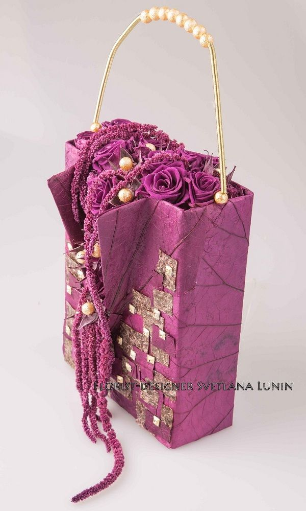 wedding bag from preserved flowers from Svetlana Lunin