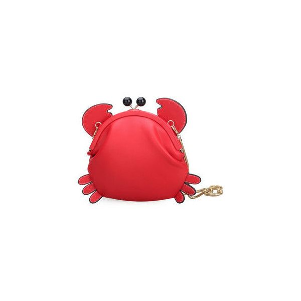 Woman Crab Cute Crossbody Bag Shoulder Bag Girls Storage Bag ($19) ❤ liked on Polyvore featuring bags, handbags, shoulder bags, red, red shoulder bag, red handbags, red purse, red crossbody purse and zip shoulder bag