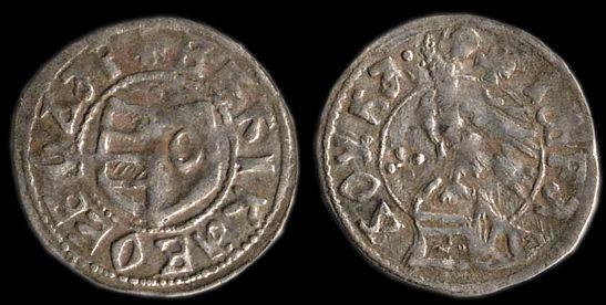 "Wallachia - Radu I (c.1377-c.1383): dinar. ""Radu I minted the same nominals as Vladislav I, Wallachian ducats, deniers and bani."""