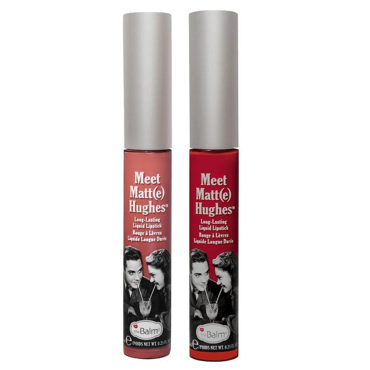 theBalm Meet Matt(e) Hughes Long-Lasting Matte Liquid Lipstick Duo Includes: 2 lipsticks in pink/nude and red Long-wearing formula $21.00