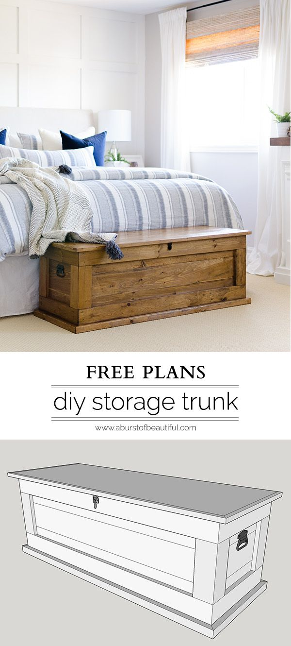 Bed frames with storage plans - Diy Blanket Storage Chest