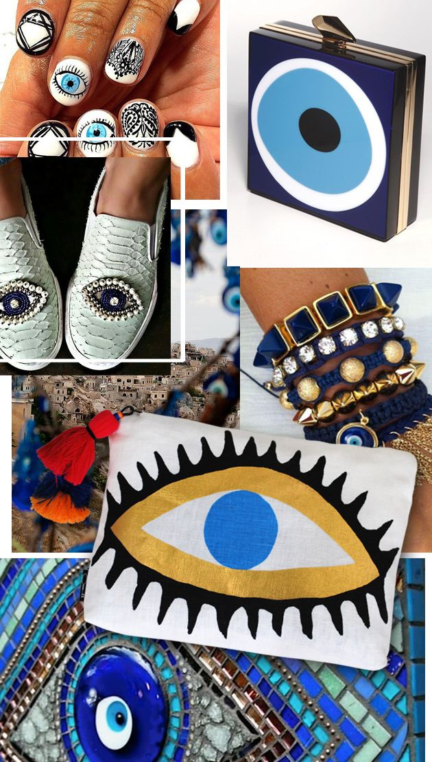 evil eye trendAnyone who's travelled to Greece will have come across the evil eye motif. Synonymous with greek culture the evil eye or 'nazar' dates back over 5,000 years and was believed to protect its owner from evil spirits, jealousy and 'ill will' by others.