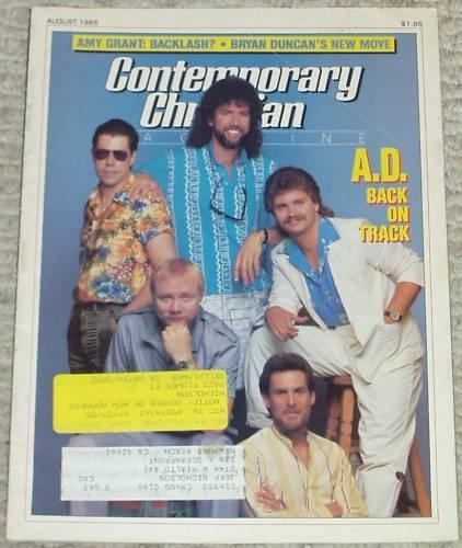 CCM Magazine Aug 1985 Kansas' Kerry Livgren & A D Bryan Duncan Amy Grant