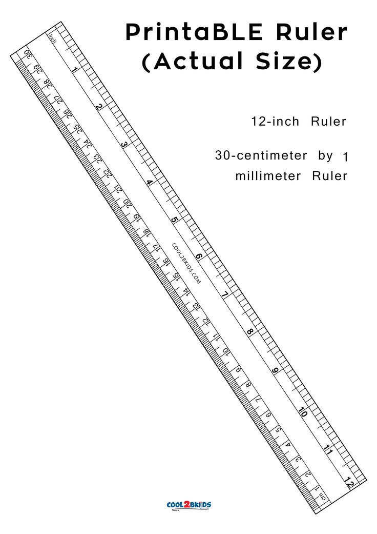 Real Size Ruler Inches