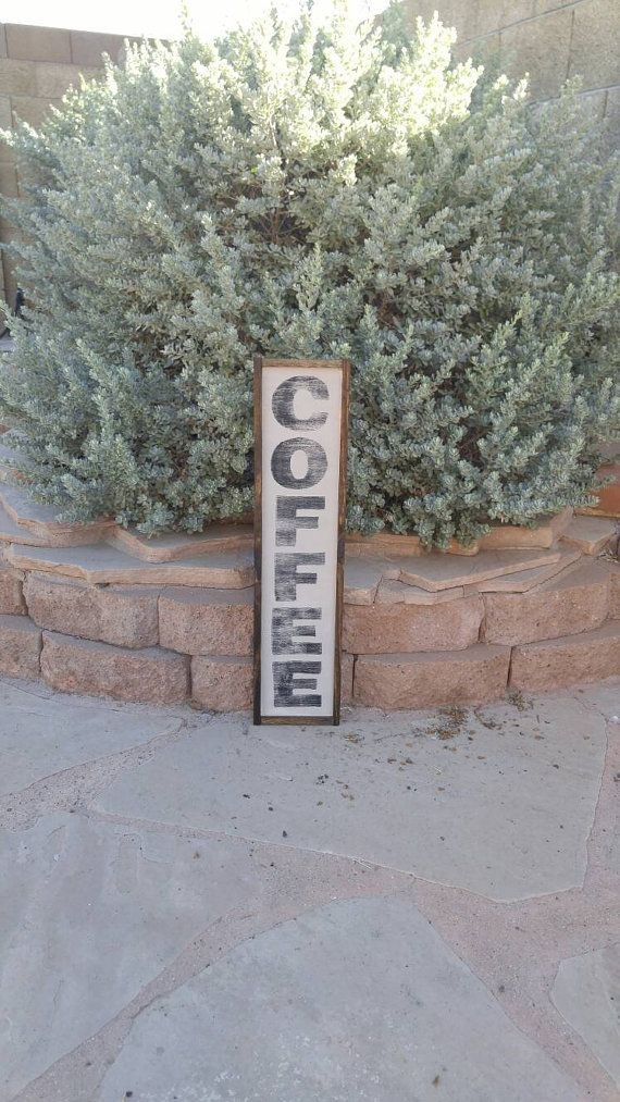 Coffee Sign Coffee Bar Sign Farmhouse by TheGreenElephantShop