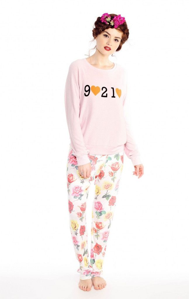 Wildfox Beverly Hills Tourist Baggy Beach Raglan - Frendz & Co.