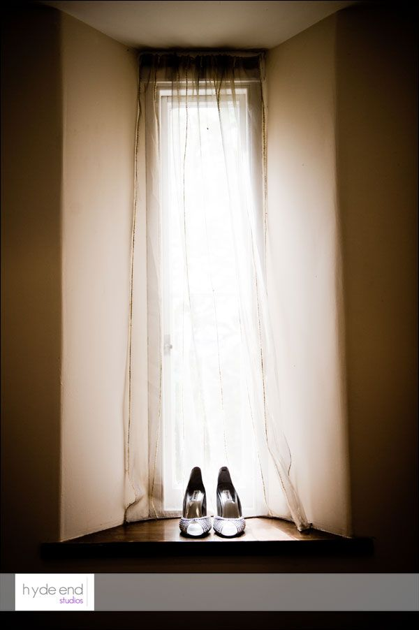 Gemma's shoes - from her wedding at Orchardleigh House in Somerset. #weddingshoes #wedding