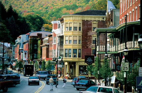 Jim Thorpe, Pennsylvania, is tucked deep into a steep valley in the Poconos.