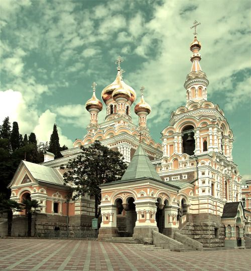 "crimean-lavender: "" St. Alexander Cathedral in Yalta, Crimea. """