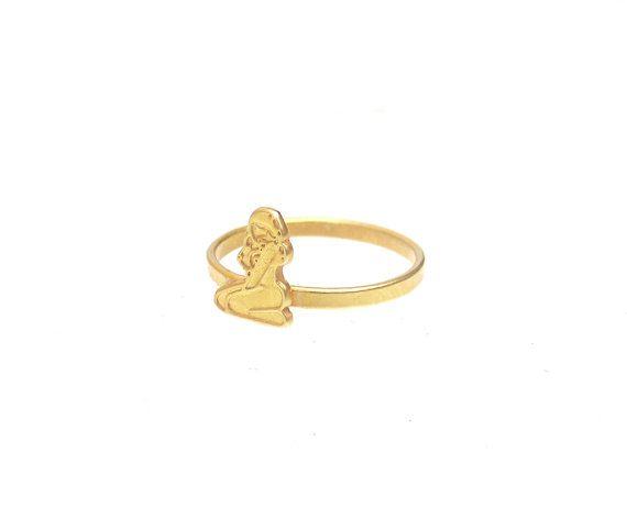 Brass Knuckle Ring  Brass Midi Ring  Thin by profoundgarden