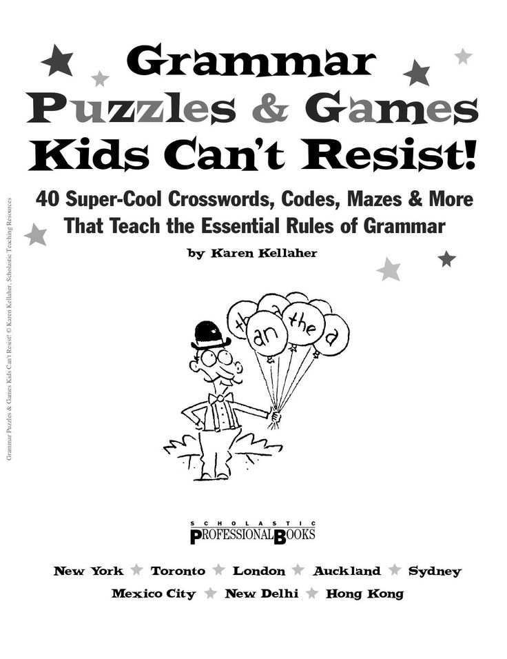 Grammar puzzles and games