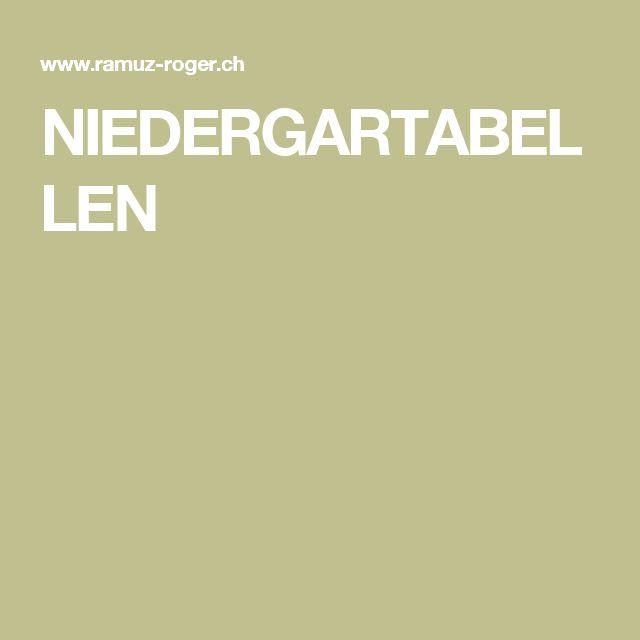NIEDERGARTABELLEN