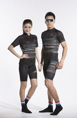 2016 Men's Black Cycling Bicycle Jersey for Sale