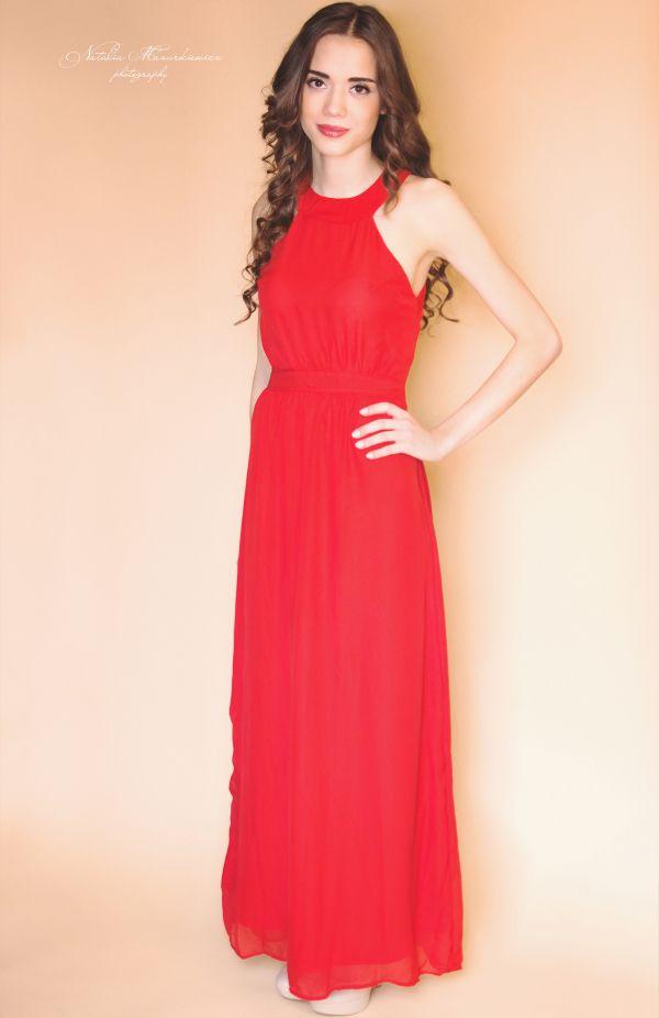 Długa sukienka szyfonowa Dresstination - Dresstination