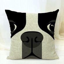 Envío gratis! boston terrier decorativo almofadas case para cama para el automóvil sofá 45 x 45 linda cubierta del amortiguador del perro home decore(China (Mainland))