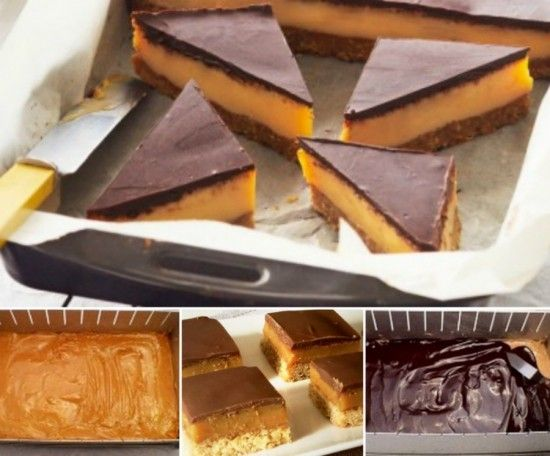 No Bake Chocolate Caramel Slice