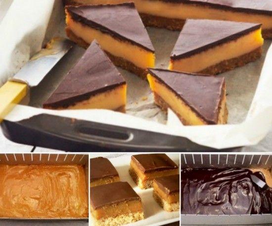 No+Bake+Chocolate+Caramel+Slice