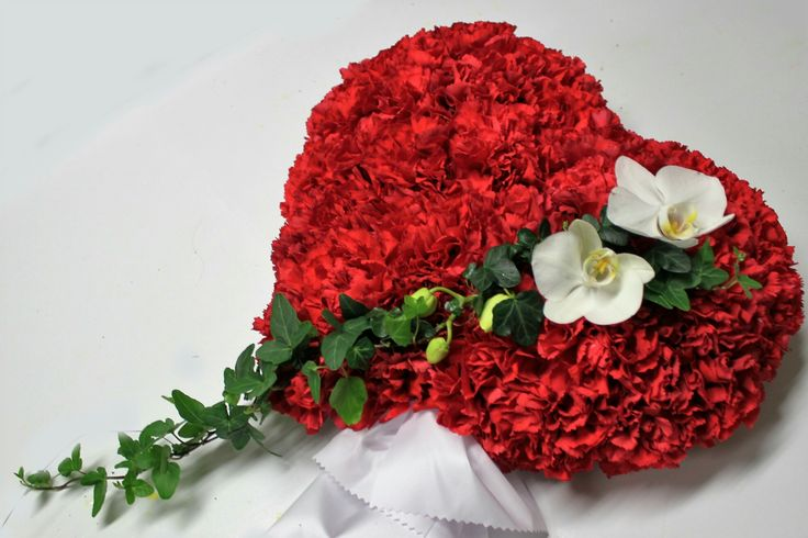 Hjerte, rød nellik